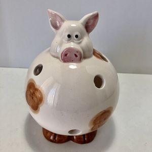 Pig Tea Light Candle Holder Porcelain Ceramic Pink for Sale in Mesa, AZ