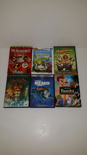 6 CHILDREN'S DVDs (DISNEY & DREAMWORKS) including PLATINUM EDITION 2-Disc BAMBI for Sale in Anaheim, CA
