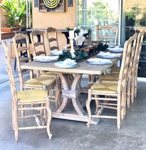 Antique French Rush Seat Chairs - Set of 8 Chairs for Sale in West Covina, CA