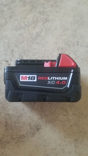 New Milwaukee 18-Volt Lithium-Ion XC Extended Capacity 4.0Ah Battery for Sale in Hemet, CA