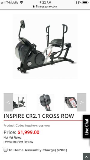 Inspire Fitness CR2 rower Rowing Machine Cross Rower for Sale in Los Angeles, CA