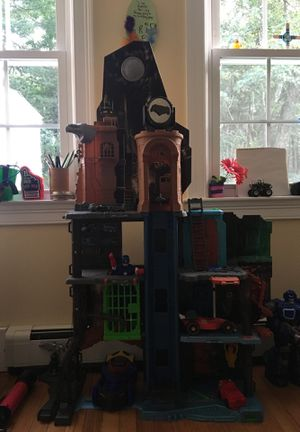 Bat cave with Batman and Batmobile for Sale in Sudbury, MA