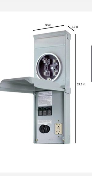 Metered RV Panel with 50 Amp RV Receptacle and 20 Amp GFCI Receptacle GE GE1LM502SS for Sale in Houston, TX