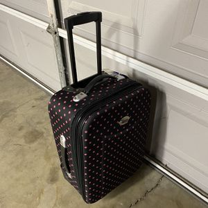 Polkadot Rollaway Luggage for Sale in Buena Park, CA