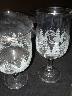 wedding and Xmas wine glasses for Sale in Detroit, MI