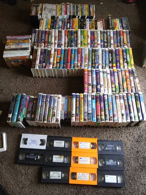 Lot of movies. App 150 vhs ( mostly disney) and 40 DVD. for Sale in Broxton, GA