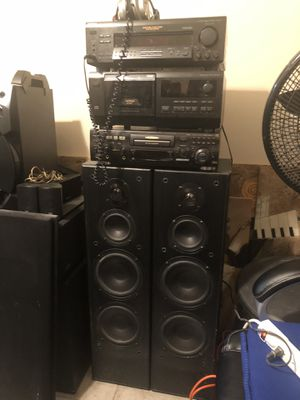 Old school Sony stereo and receiver DVD & Audio speakers for Sale in Fort Worth, TX
