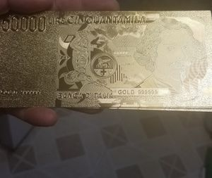 24k gold plated Italy lera collection of notes for Sale in Springfield, VA