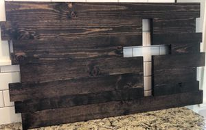 New Custom Made Solid Wood Cross ( Christian Home Decor ) Sign 38 inches Wide 21 inches Tall (PRICE FIRM) for Sale in Visalia, CA