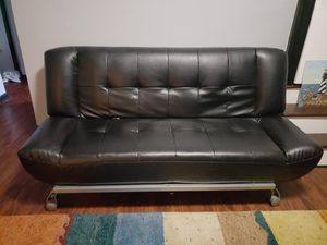 Leather futon and solid heavy picture for Sale in Middletown, CT
