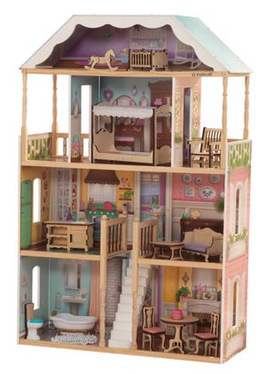🏘 Kidkraft Charlotte dollhouse with furniture (new) for Sale in Citrus Heights, CA