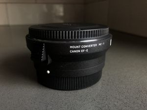 Sigma MC-11 Adapter (Canon EF Mount for Sony Alpha body) for Sale in Reno, NV