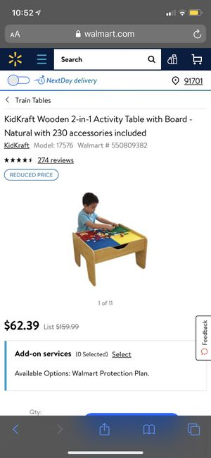 kidkraft 2 in 1 activity table with board for Sale in Rancho Cucamonga, CA