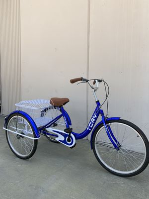 "24"" tricycle single speed brand new well assembled with big rear basket and big comfortable seat for Sale in Ontario, CA"