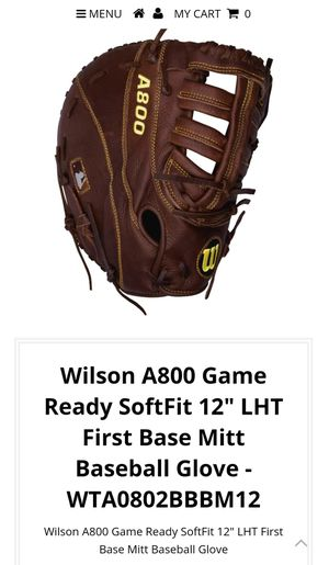 "Wilson A800 Game Ready SoftFit 12"" LHT First Base Mitt Baseball Glove for Sale in Troy, MI"