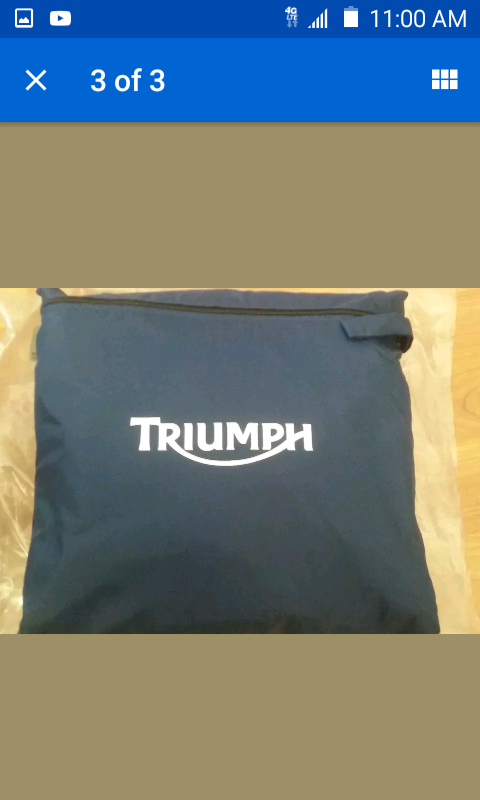 Triumph Motorcycle dust cover