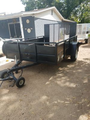 6 1/2 by 10 enclosed cargo trailer utility trailer two and a half foot tall rails heavy duty ramp good condition $1,675 for Sale in Phoenix, AZ