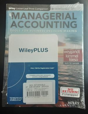Managerial accounting 8th edition with online code for Sale in Antelope, CA