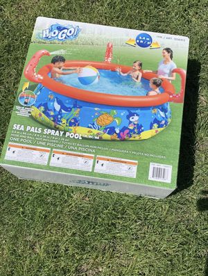 H20 Go H20go Large Inflatable Swimming Pool for Kids Sea Pals Spray Pool for Sale in Haddon Township, NJ
