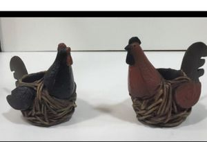 Home interiors/Ch Roosters tea light candle holders for Sale in Dallas, TX