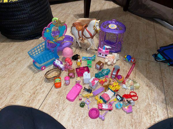 Girls toy lot Ariel tub horse shopkins mixed my little pony MLP