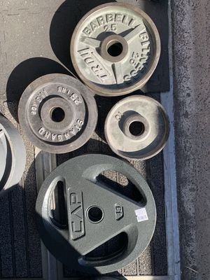210lb Olympic weight set-mix matched for Sale in Parker, CO