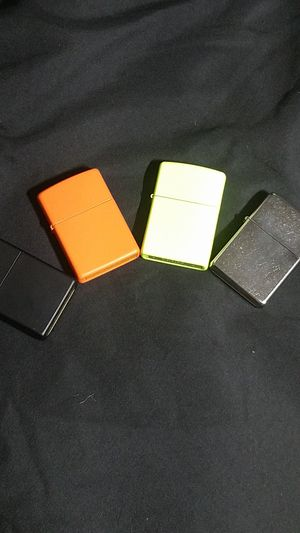New Zippo Lighter Solid Colors. Made in USA for Sale in Deer Park, TX