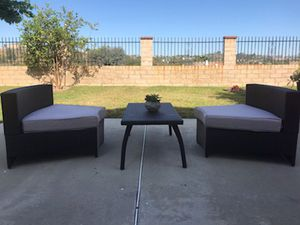 Modern Wicker 2 Chairs and Table Brand New for Sale in Industry, CA