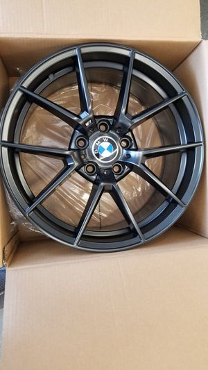 """Bmw 325i z4 18"""" new m4 style rims tires set for Sale in Hayward, CA"""