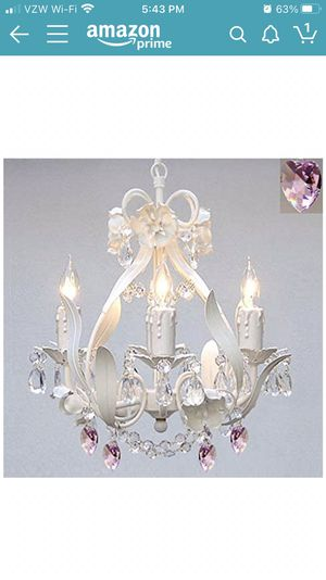 White wrought iron chandelier for Sale in Murrieta, CA