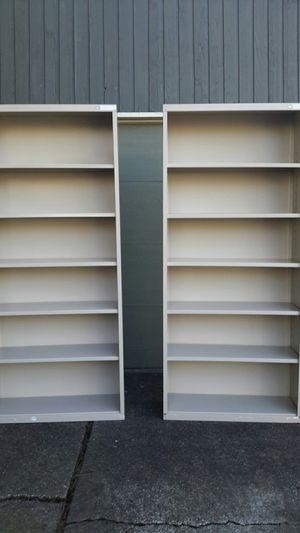 Two metal bookshelves $25.00 each for Sale in Hillsboro, OR