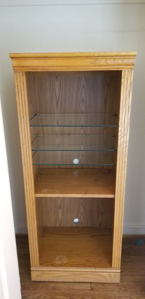 Wood and glass shelf for Sale in Rockville, MD