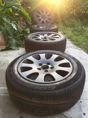 16 inch original 5lug audi wheels and tires for Sale in Hawthorne, CA