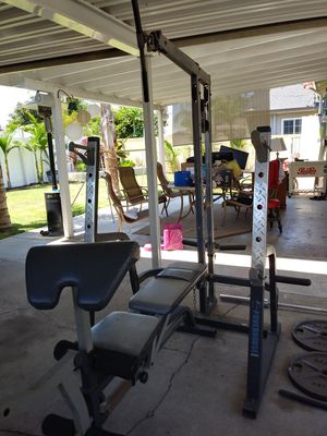 Ppwerhouse Weight bench and weights for Sale in Fullerton, CA