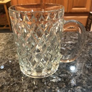 Collectible Vintage Cut Lead Crystal Mug/Cup/Glass. Size 4 1/4 inches tall. Brand new perfect condition for Sale in Artesia, CA