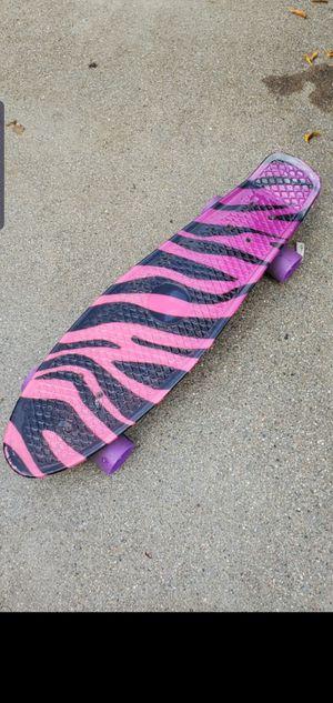 Kids skate board kid skateboard pink and black for Sale in Upland, CA