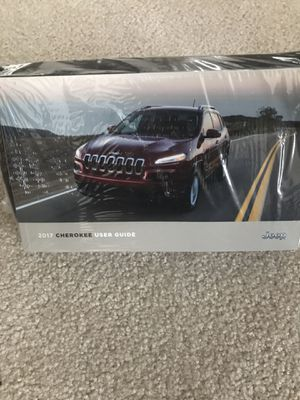 2017 Jeep Cherokee owner's manual / User Guide. Part # 05145932AB for Sale in Streetsboro, OH