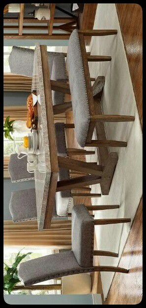 ✔QUALITY✔ Vesper Brown/Gray Marble Rectangular Dining Set for Sale in Mount Rainier, MD