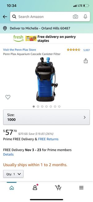 Aquarium filter for Sale in Orland Park, IL