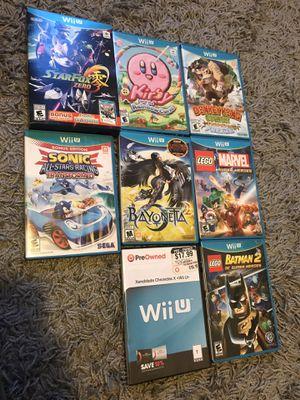 Lot of 8 Nintendo Wii U games includes Kirby, Donkey Kong, star fox, xenoblade, Bayonetta, lego marvel for Sale in Los Angeles, CA