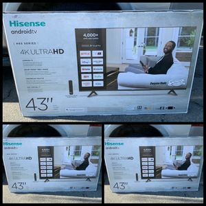 43 INCH HISENSE 4K HISENSE SMART TV ANDROID 4K ULTRA for Sale in Anaheim, CA