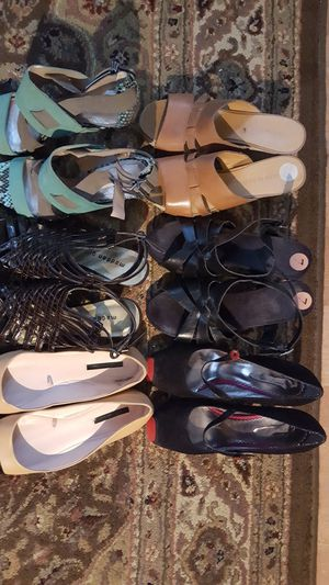 Bundle of Shoes. Size 6 to 7. Flats no longer available. Rachel Roy strappy green never worn. Can be priced/sold separately. for Sale for sale  Woodbridge Township, NJ