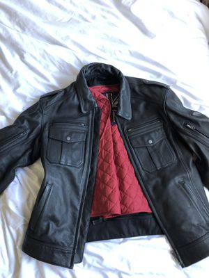 Triumph Large leather motorcycle jacket for Sale in Santa Monica, CA