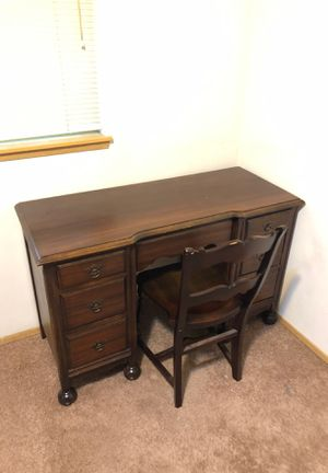 Beautiful Small desk and antique chair for Sale in Bonney Lake, WA
