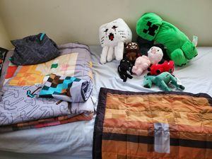 Minecraft bedding and plushies for Sale in Sunrise, FL