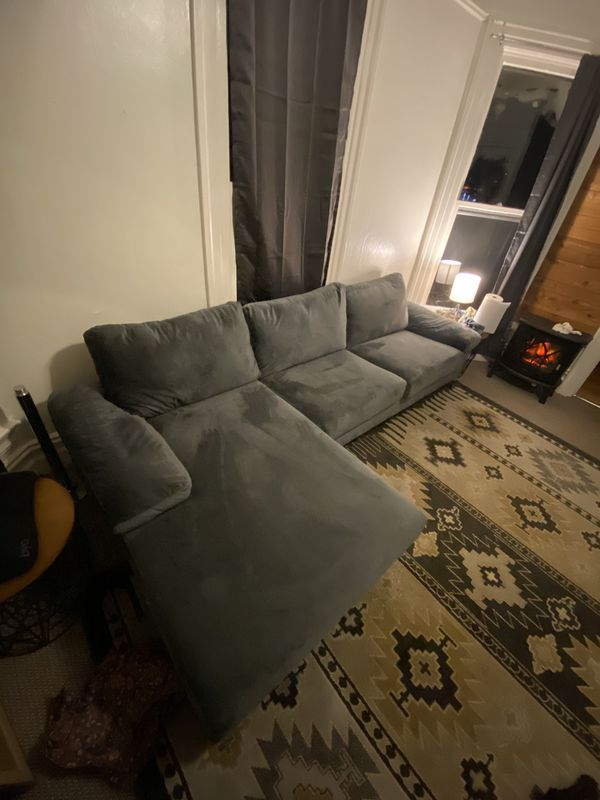 Beautiful Velvet Sectional Couch