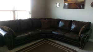 Sectional leather couch for Sale in Kokomo, IN