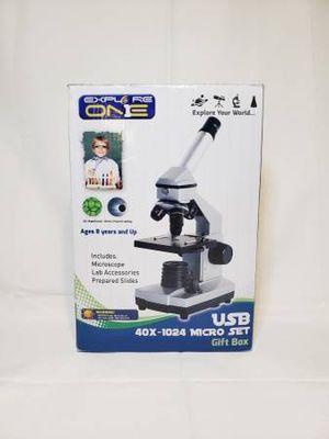 EXPLORE ONE Intermediate Compound Microscope for Kids - 40X - 1024X Magnification for Sale in Spokane, WA