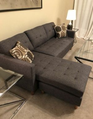 Brand New Grey Linen Sectional Sofa Couch for Sale in Arlington, VA