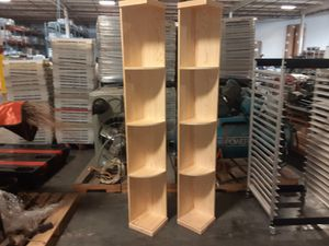 """2 CORNER SHELVES SOLID PINE 77"""" X 15"""" X 14 5/8"""" for Sale in Portland, OR"""